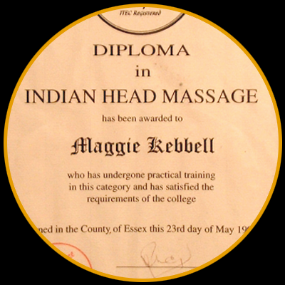 Indian Head Massage in Herne Bay